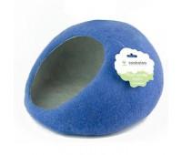 """Домик- слипер """"Уютное гнездышко""""  (шерсть, форма круг, синий)"""