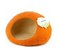 """Домик- слипер """"Уютное гнездышко""""  (шерсть, форма круг, оранжевый)"""