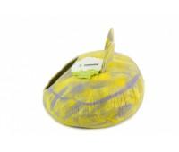 """Домик- слипер """"Уютное гнездышко"""" с ушками (шерсть, форма круг, мультиколор желтый)"""
